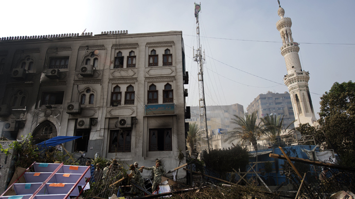 12-- Rabaa dispersal AFP photo