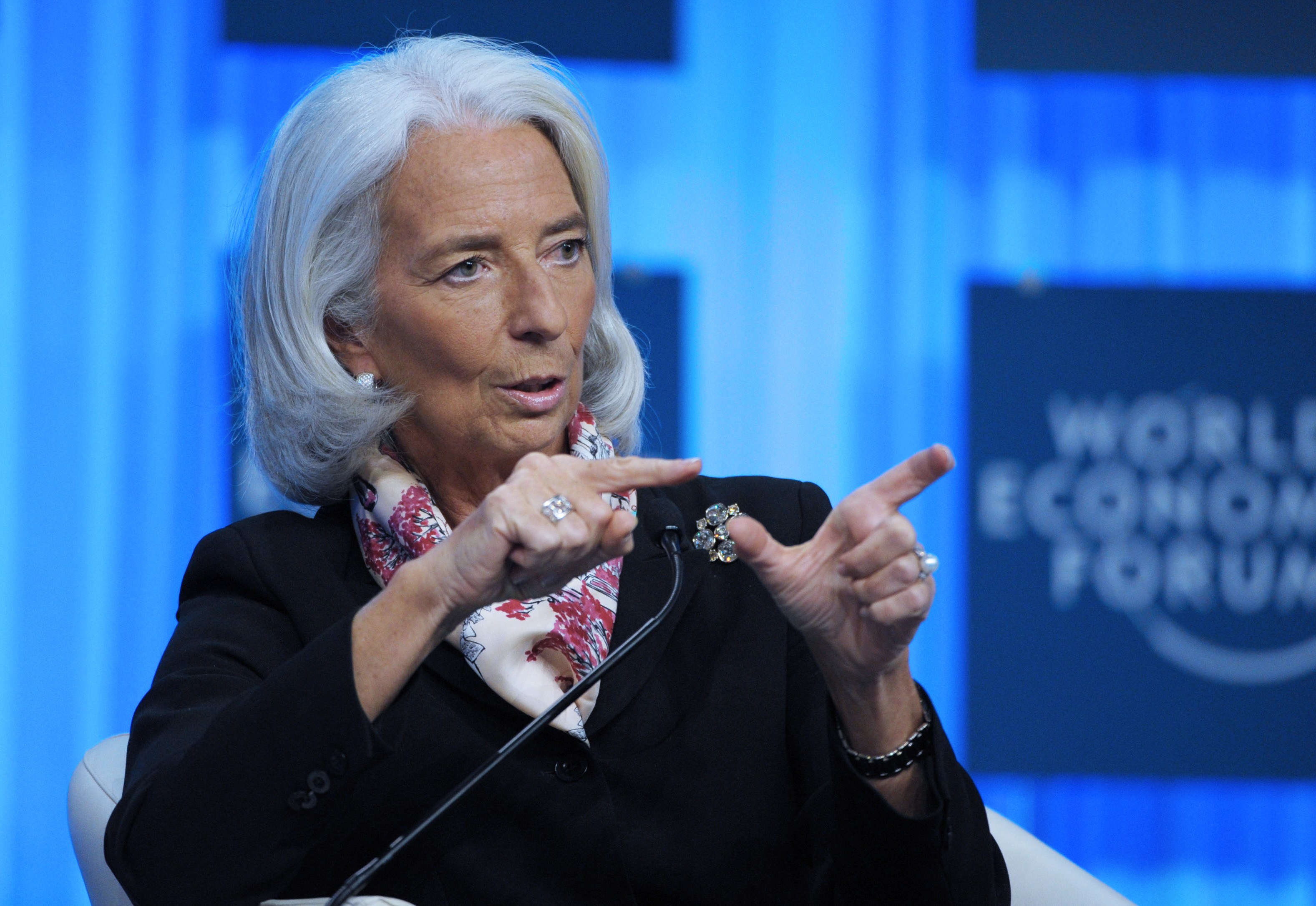 Lagarde said that the steps taken by the government toward economic reform form a good start for restoring public finances. (AFP PHOTO / ERIC PIERMONT)