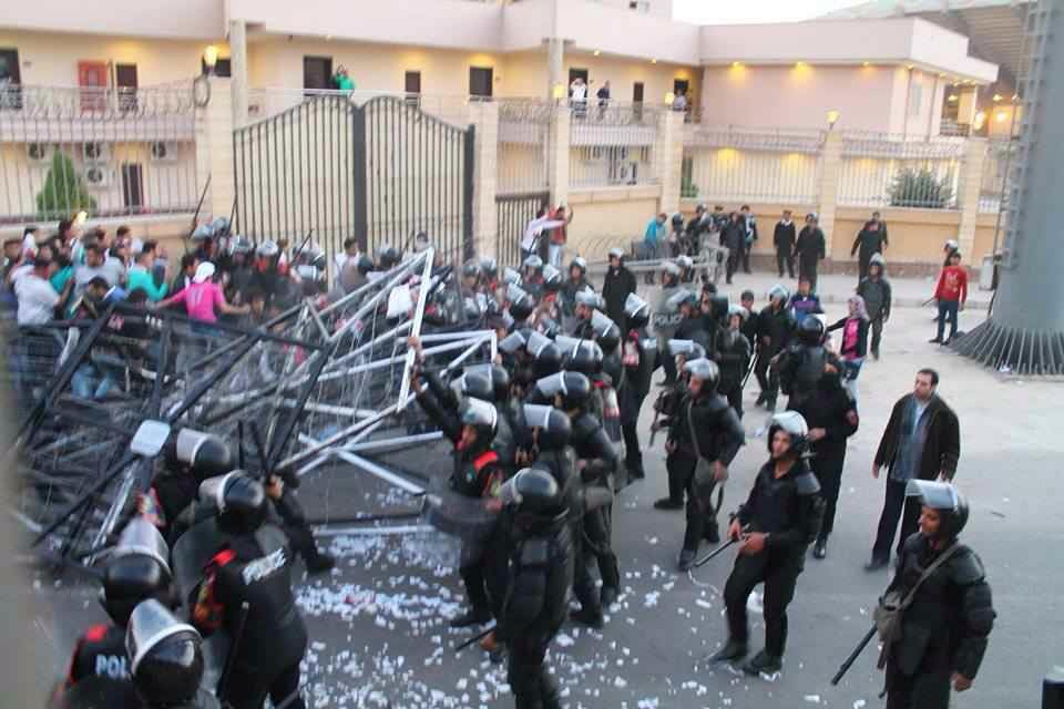 Security forces deployed at the Air Defence Stadium dispersed Zamalek fans before Enppi match on Sunday, at least 22 were killed. (Photo courtesy of UWK fan group official Facebook page)