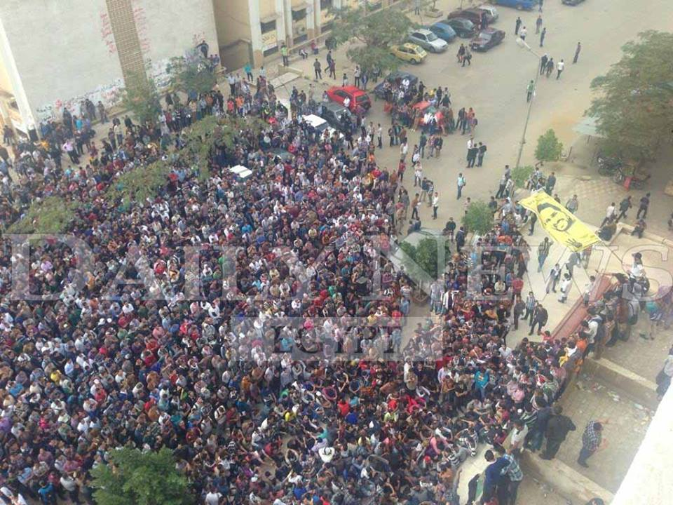 View from the roof of the Faculty of Science building at #AlAzhar right now.  (Photo by Aaron T.Rose)