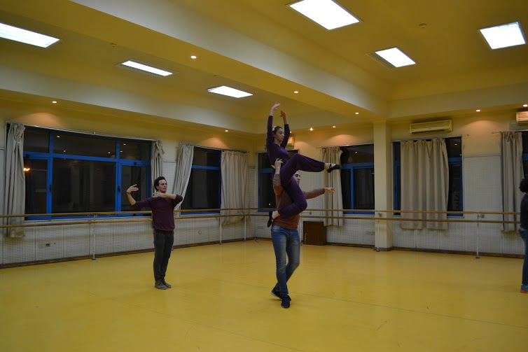 Ballet dancers during rehearsing (Photo by Omnia Farrag)