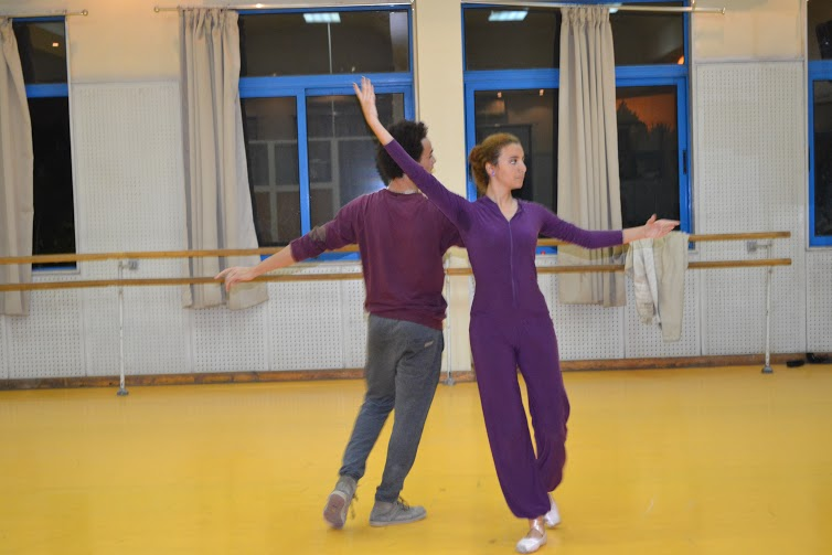Salah and Sherif during rehearsals.  (Photo by Omnia Farrag)
