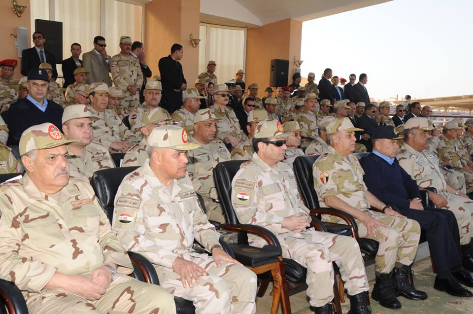 Defence Minister Minister General Abdel Fattah Al-Sisi n a speech during the graduation ceremony of a new cohort of non-commissioned officers on 26 December