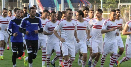 The Zamalek SC team during a training session (Photo Public Domain)