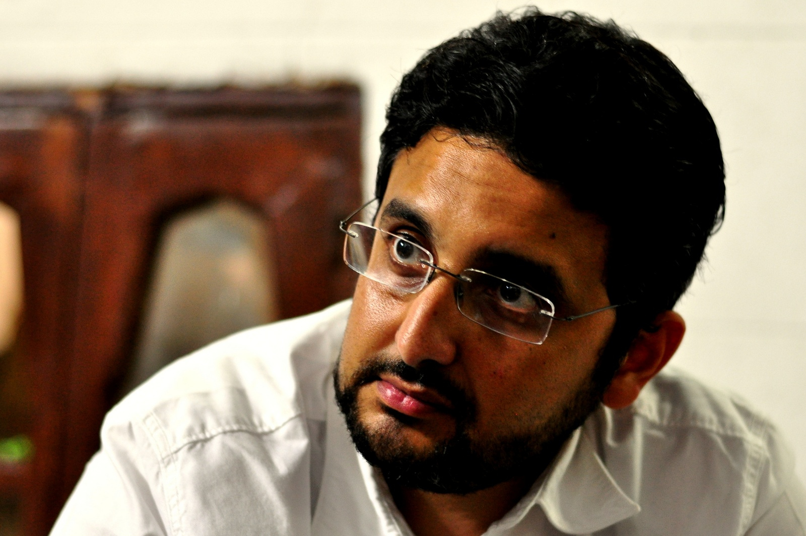 Gehad El-Haddad, Muslim Brotherhood spokesman, was arrested in Nasr City on Tuesday (Aaron T Rose/ File photo)
