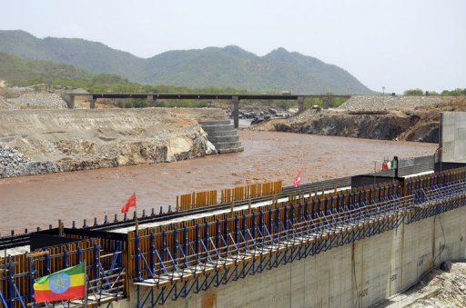 A delegation of water experts from Egypt, Ethiopia and Sudan held talks in the Sudanese capital Khartoum on Sunday concerning the impacts of the Grand Ethiopian Renaissance Dam. (AFP/ file photo)