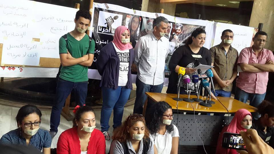 "Journalists on hunger strike vow to support prisoners of conscience  (Photo courtesy of the official Facebook page of ""Freedom for the Brave"" movement)"