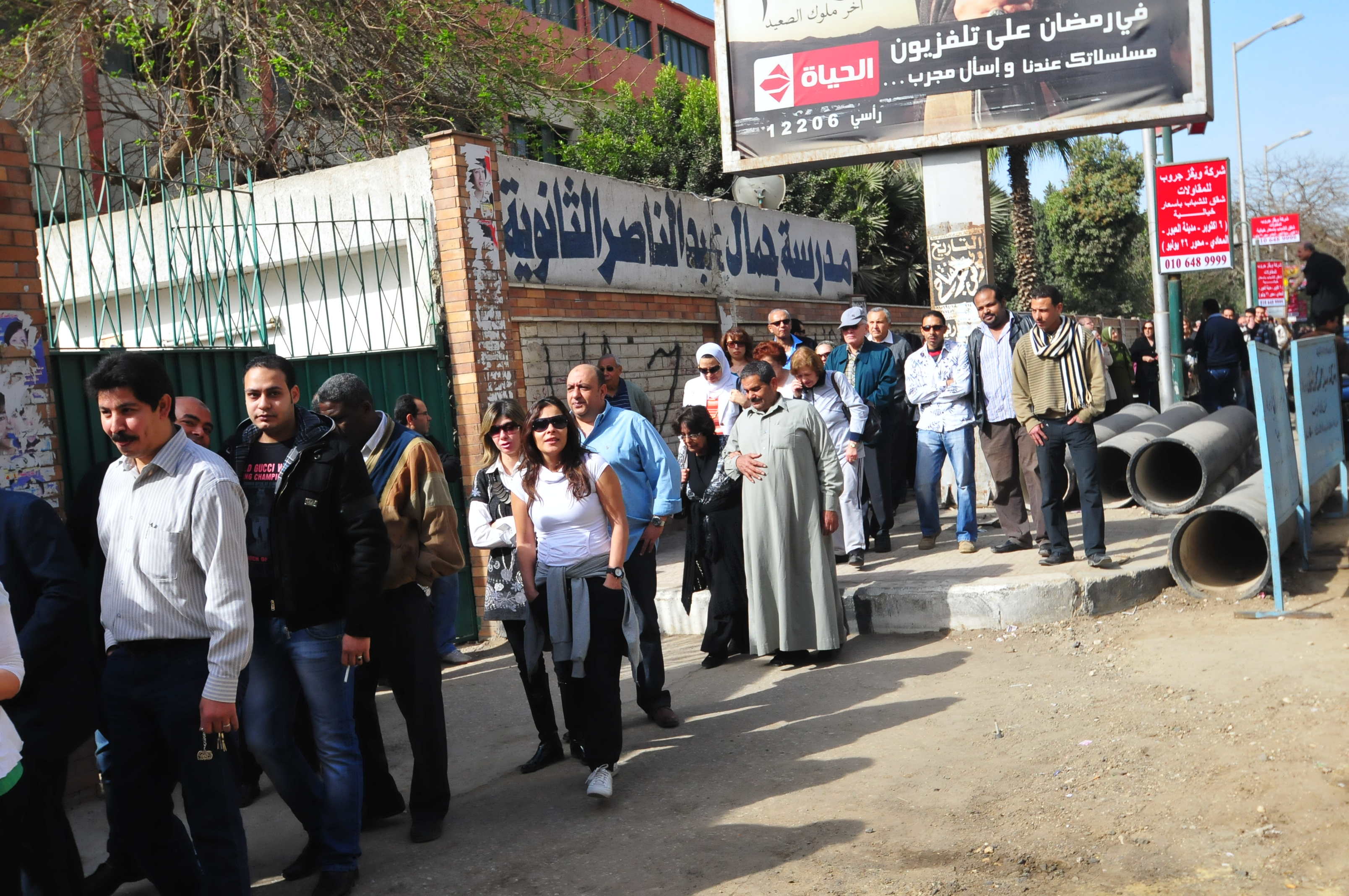 Egyptians flocked to the polling station in March 2011 to vote of the first referendum after 25 January revolution. Registration for Egyptians living abroad is set to begin in the coming December in preparation to vote on the current constitution being drafted. (Hassan Ibrahim/ DNE File Photo)