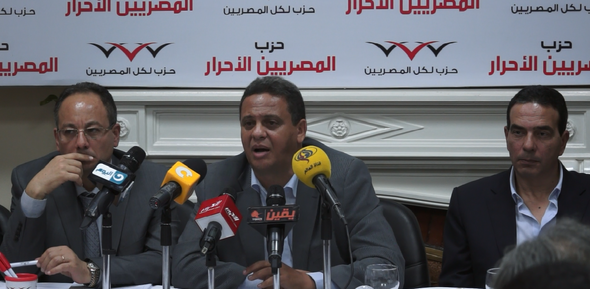 Chairman of the Free Egyptian Party Ahmed Saeed announced on Sunday that 31 members of the Egyptian Social Democratic Party had changed their allegiance to his party (Photo from Free Egyptian Party)
