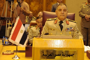 Chief of Staff of the Egyptian armed forces Mahmoud Hegazy stressed the importance of meeting the deadline set during the 26th Arab League summit  (Photo by Ahmed El-Malky)