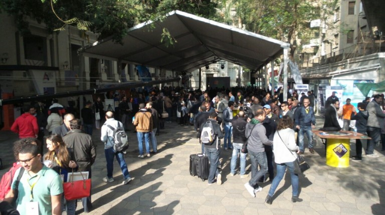 Greek Campus in Down Town Cairo at RiseUp Summit 2015