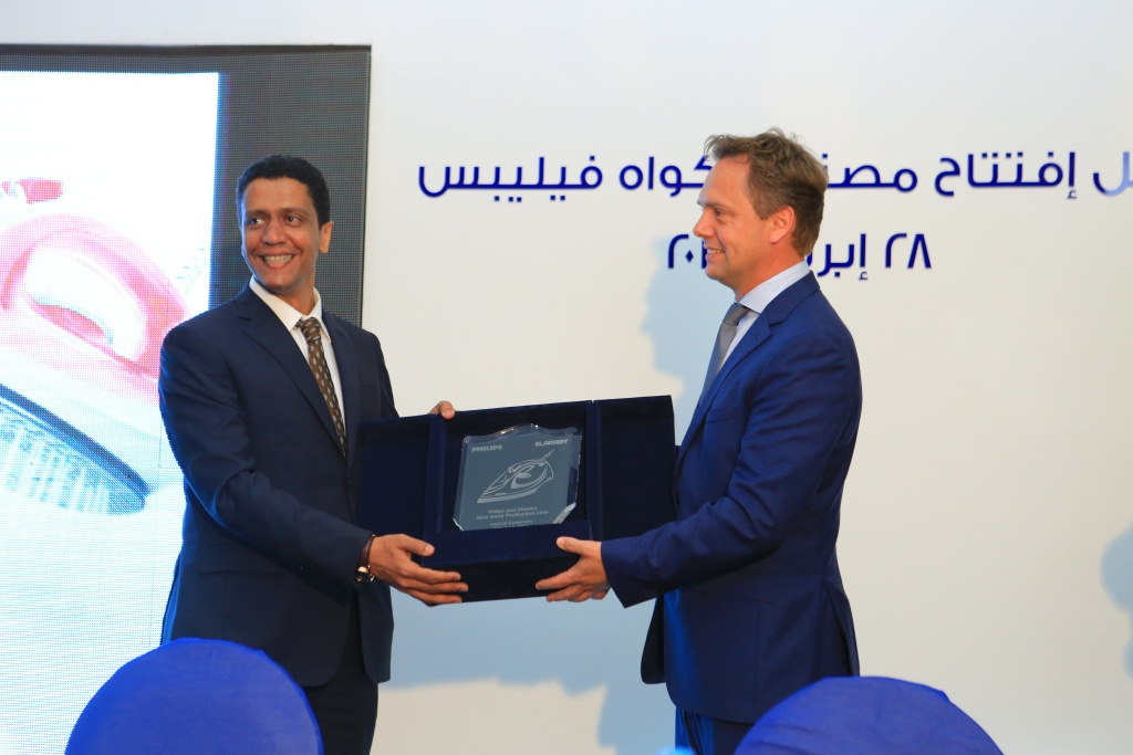General Manager of Philips Personal Health Olaf Koning with Mohi Al Araby