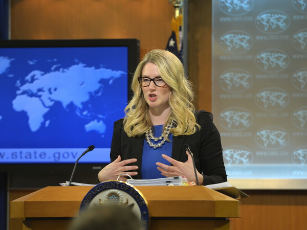 State Department Deputy Spokeswoman Marie Harf (AFP Photo)