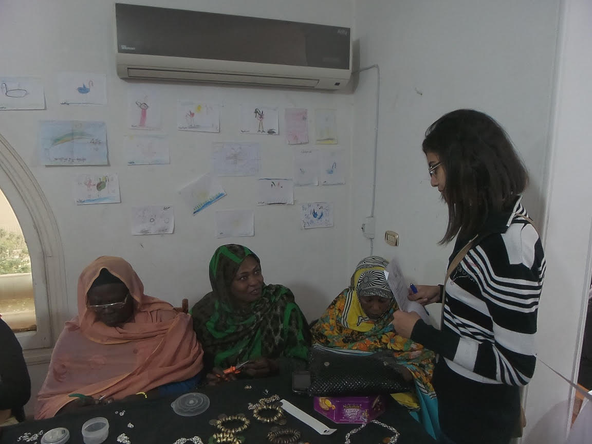 Rasha, a Sudanese refugee in Cairo, saw her financial situation ameliorate when she joined an employment project that taught her how to crochet. (Photo Handout)