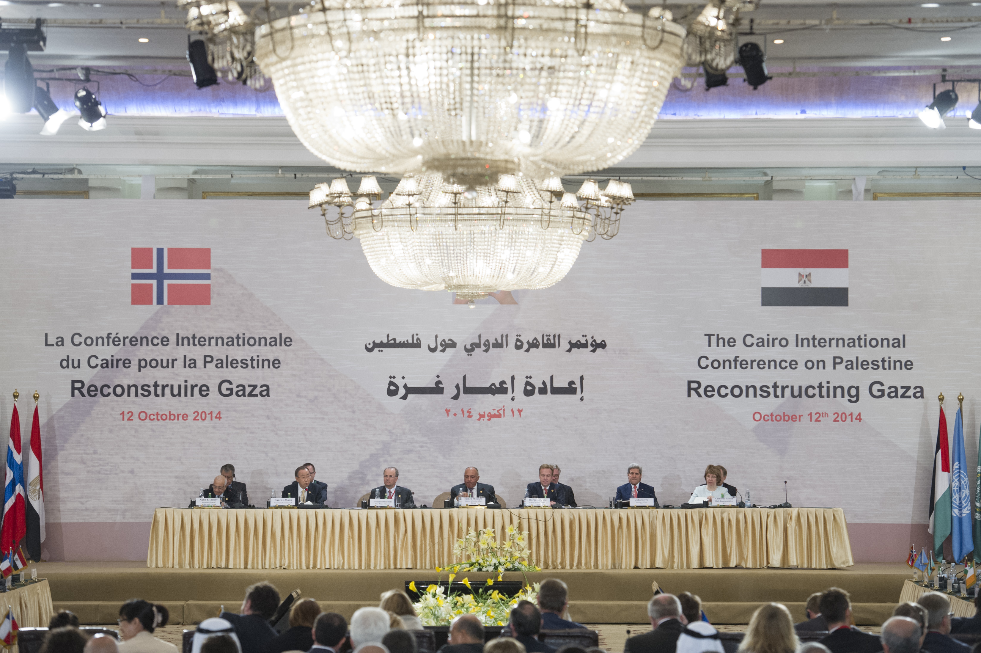 Egypt and Norway co-hosted an international donor conference in Cairo in October. Questions have been raised as to whether or not the pledges made then will be kept (UN PHOTO)