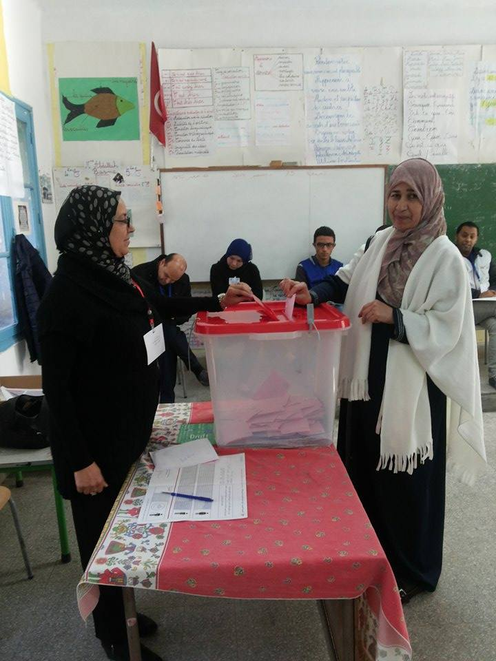 A polling station in Tunis on Sunday, during the run-off round of the country's first democratic presidential elections  (Photo by Giada Frana)