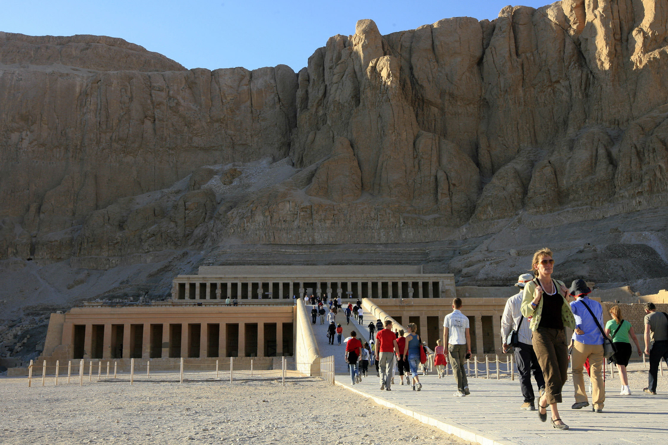 Hotels in Cairo, Luxor and Aswan will have the least occupancies over the next Eid holiday, as Egyptians prefer to go to coastal areas. (AFP Photo)