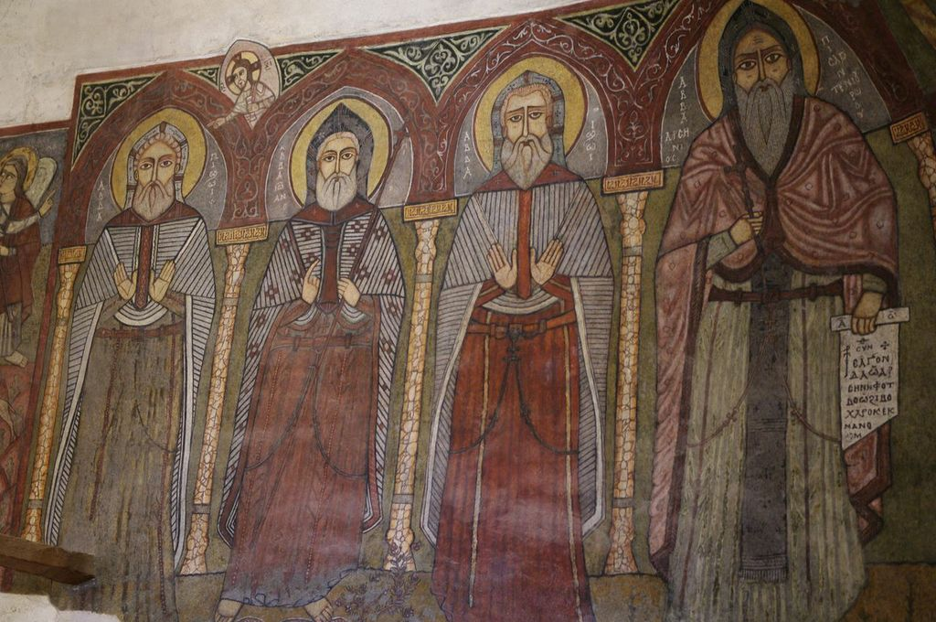 Paintings on the wall of one of the churches in the monastery of St Anthony (Photo by Campbell MacDiarmid)