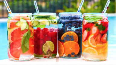 Hydrate, detox with infused water
