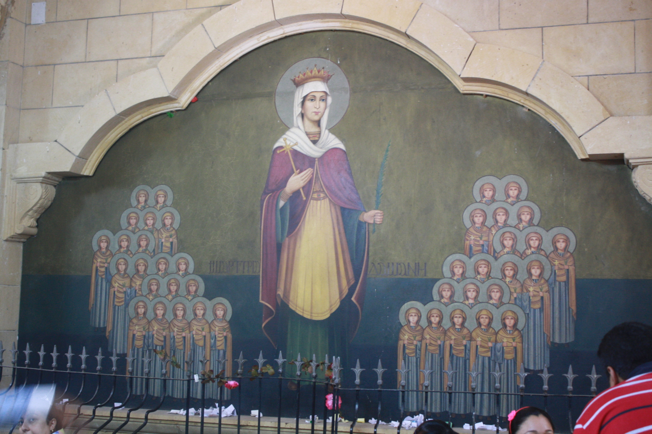 St. Dimyana and the Forty Virgins (Photo by Weston Bland)