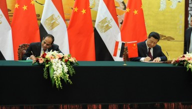 Egypt and Chinese Presidents sign cooperation agreements between the two countries (Photo Courtesy of Presidency)