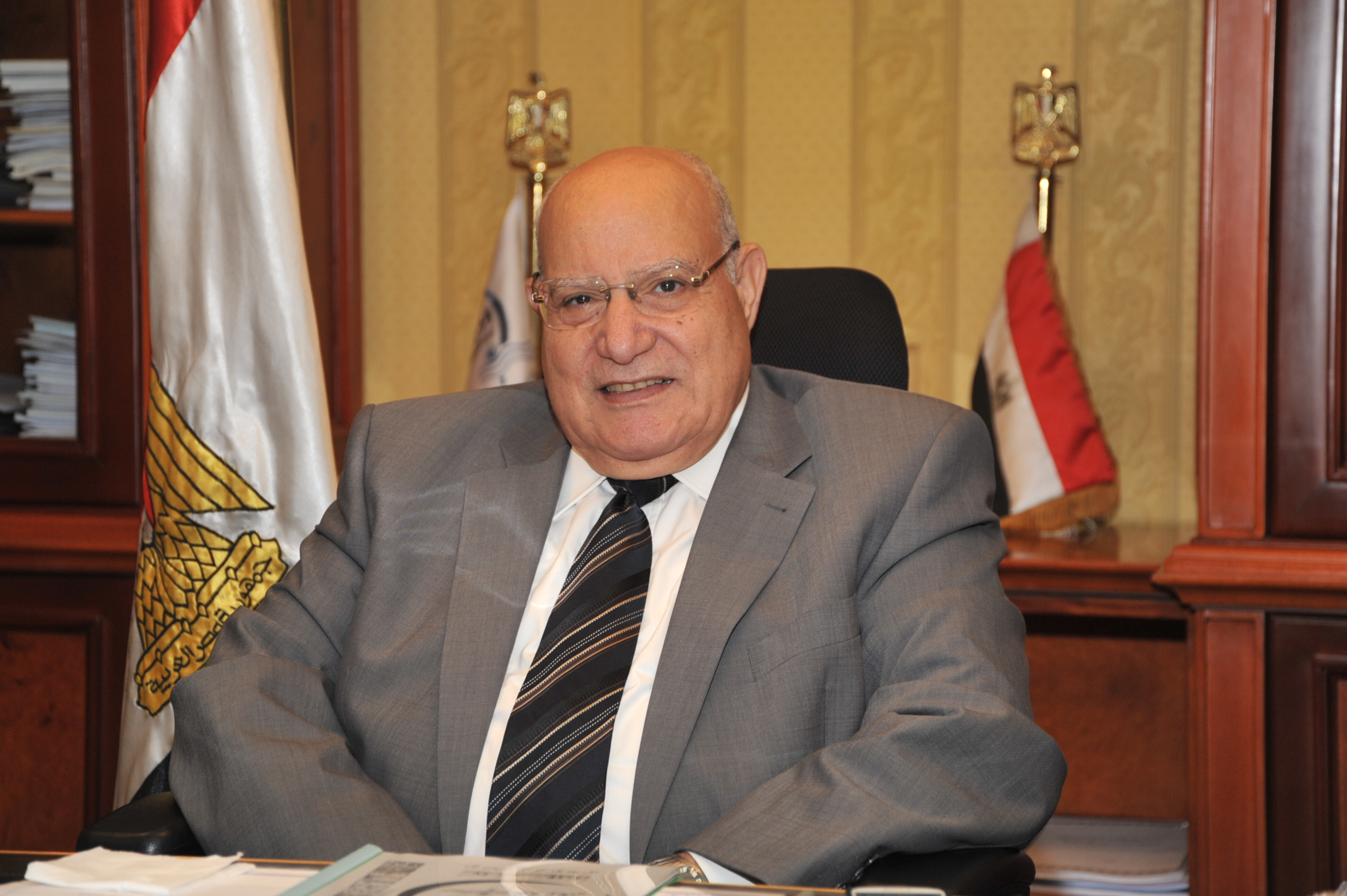 Minister of Transport Ibrahim Al-Demeri