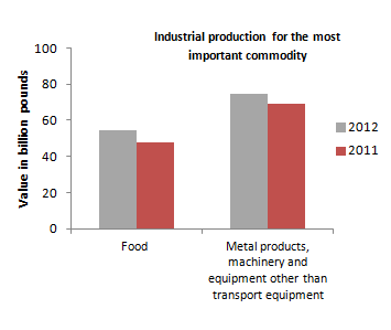 CAPMAS illustrates rise in value of industrial, food and metal production (Courtesy of CAPMAS)
