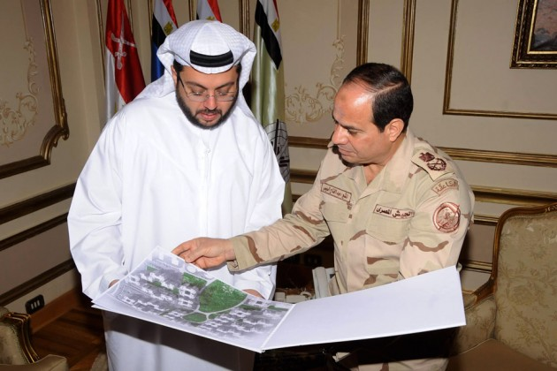 President Abdel Fattah Al-Sisi met with Arabtec Construction CEO Hasan Abdullah Ismaik on March 9 2014 in Cairo (Photo courtesy of the Egyptian Cabinet)
