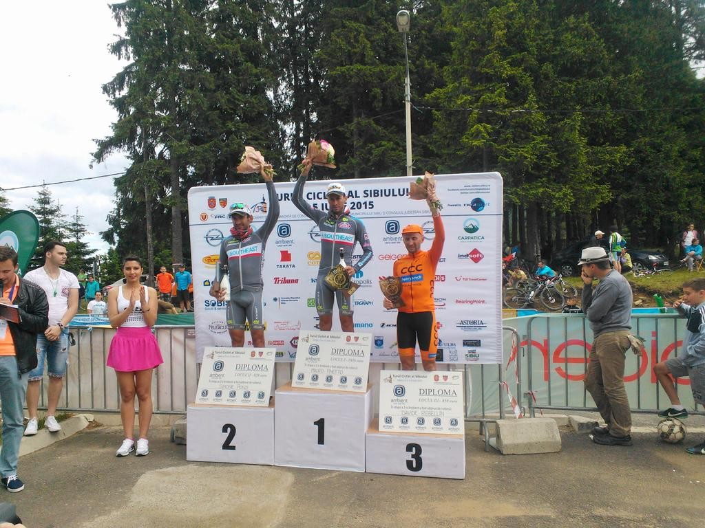 Italy's Mauro Finetto, of Southeast Pro Cycling team, won the fifth Sibiu Cycling Tour in Romania. (Photo Public Domain)