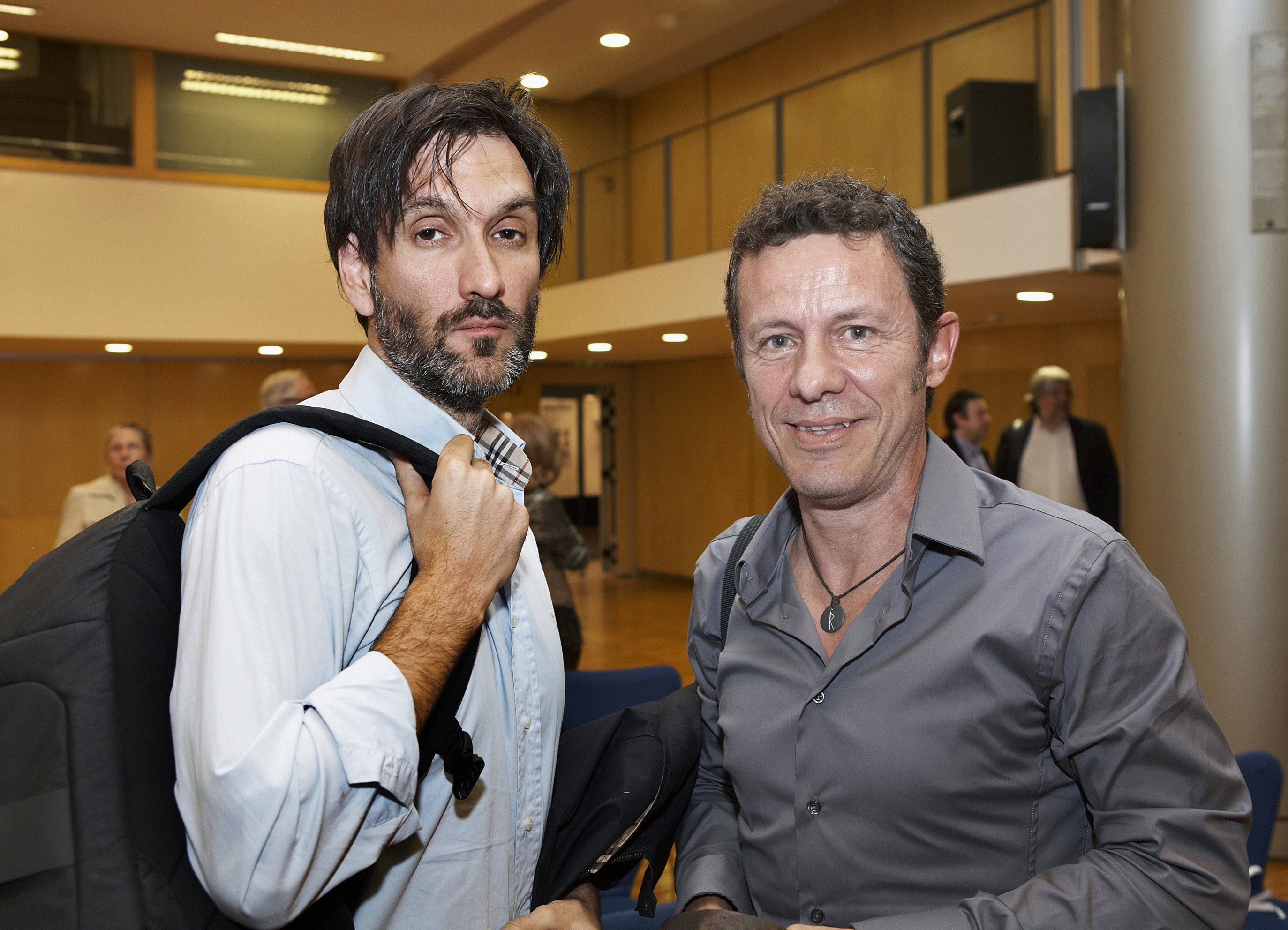 "A handout picture obtained on December 11, 2013 shows Spanish freelance photographer Ricardo Garcia Vilanova (L) and El Mundo daily newspaper correspondent Javier Espinosa during the XI Miguel Gil Moreno Journalism Award held at the Bertelsmann headquarters in Barcelona on May 24, 2012. The two journalists taken hostage by an Al-Qaeda-linked group last year have been freed, the Spanish daily El Mundo reported on March 30, 2014.     AFP PHOTO/ PRH/ JOAN BORRAS == RESTRICTED TO EDITORIAL USE - MANDATORY CREDIT ""AFP PHOTO/ PRH/ JOAN BORRAS "" - NO MARKETING NO ADVERTISING CAMPAIGNS - DISTRIBUTED AS A SERVICE TO CLIENTS =="