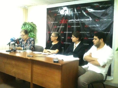 Egyptian rights groups on Thursday presented the past year's documented cases of torture. (Photo by AbdelHalim H. AbdAllah)