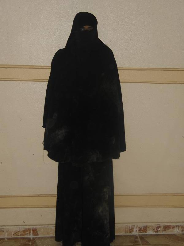 Border Guards in Rafah arrested a man wearing a niqab near a security checkpoint on Monday night.  (Photo from The army spokesman's Facebook page)