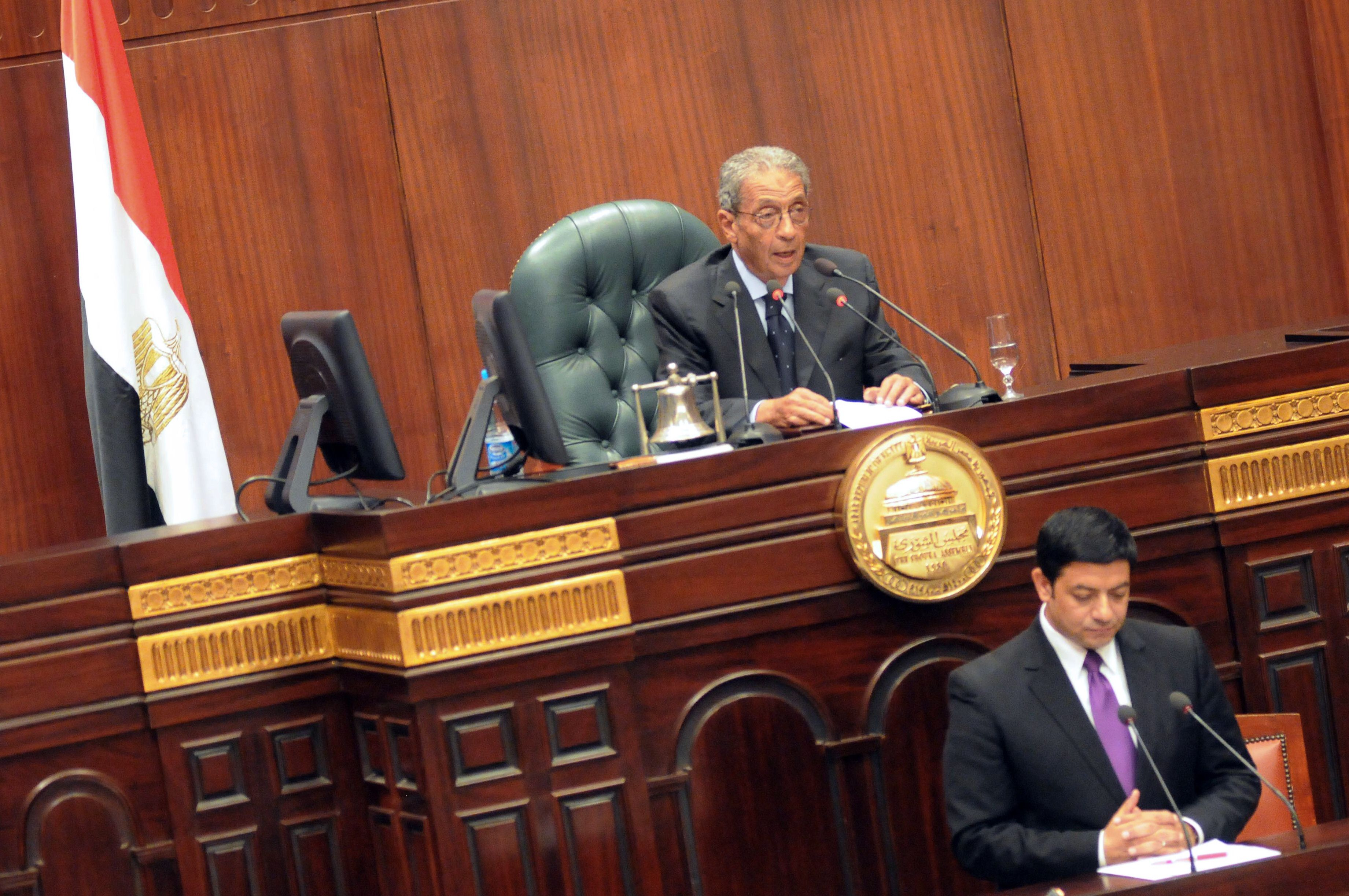 Constituent Assembly Chairman Amr Moussa  (AFP Photo)