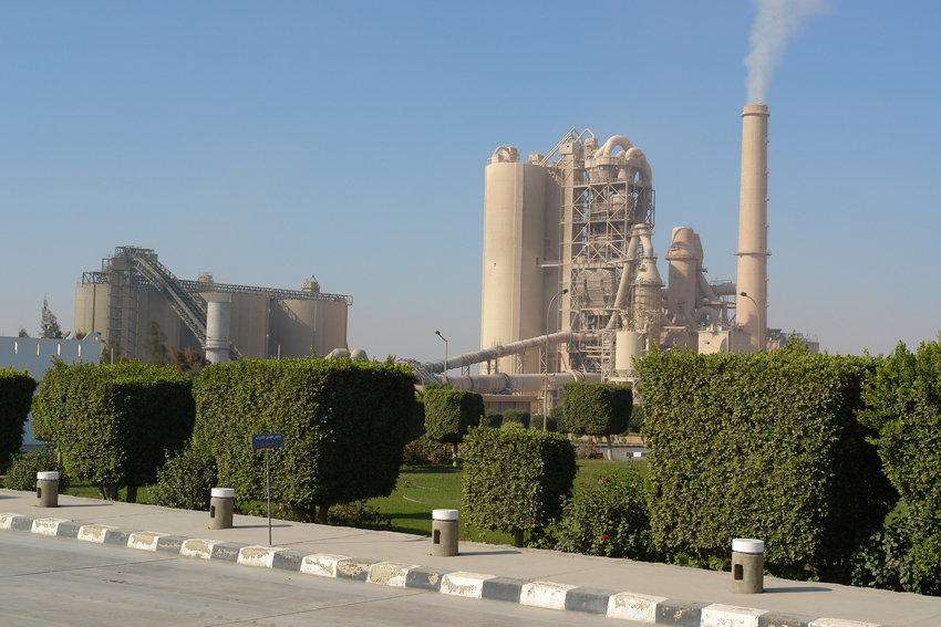 The waste-treatment plant, located inside the company's Kattameya cement plant (Photo from Suez Cement website)