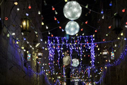 During the month of Ramadan, energy is wasted through the use of celebratory lighting, watching television and air-conditioning. (AFP photo)