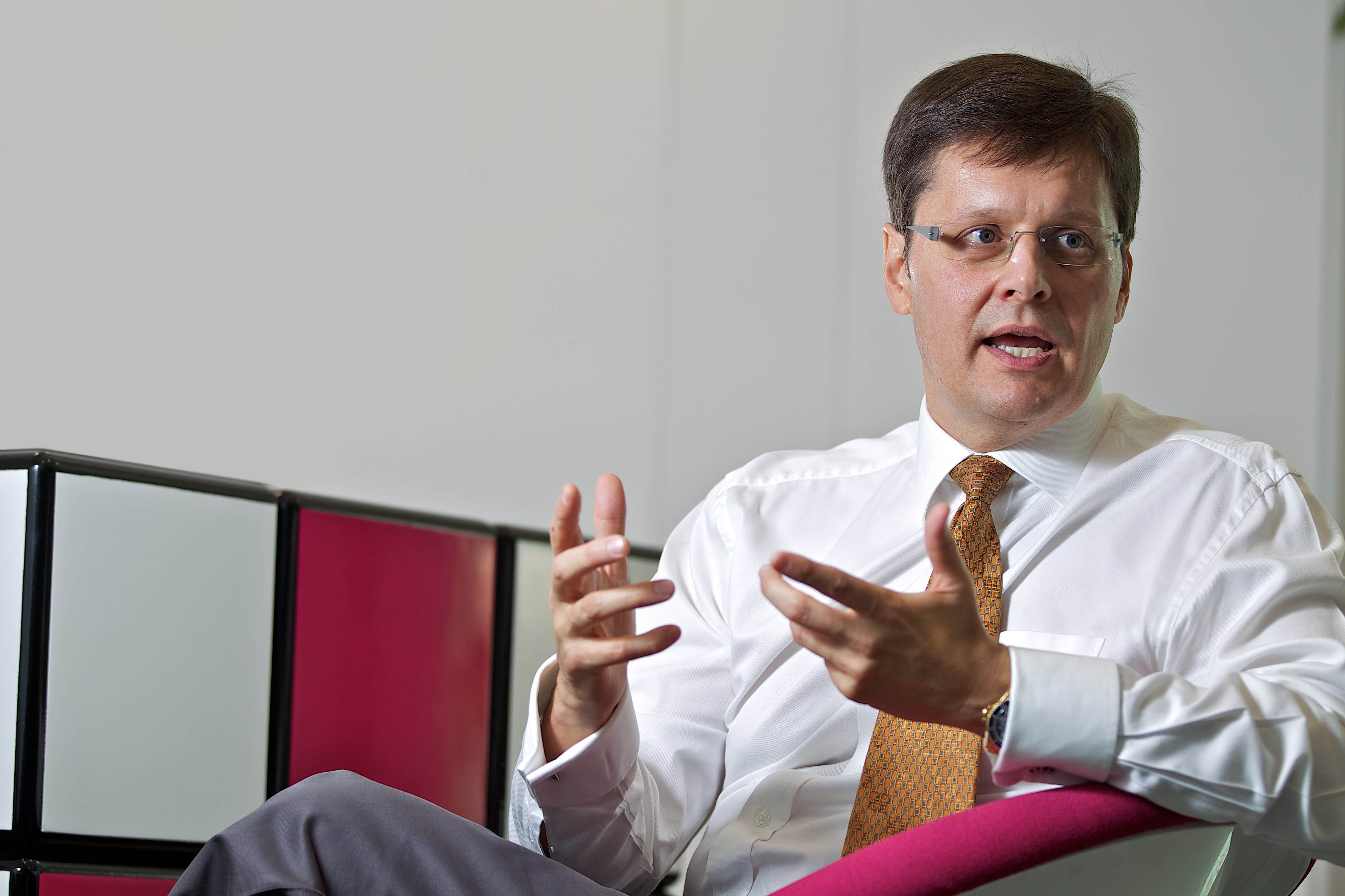 Steve Hamilton-Clark, CEO of TNS, speaks to Daily News. (Picture distributed by TNS)