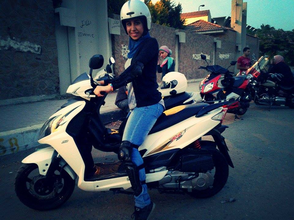 After Walaa Zohair posted photos of herself riding her scooter on Facebook, her friends started asking her for advice about convincing their parents to let them ride  (Photo Courtesy of Girls on Wheels)