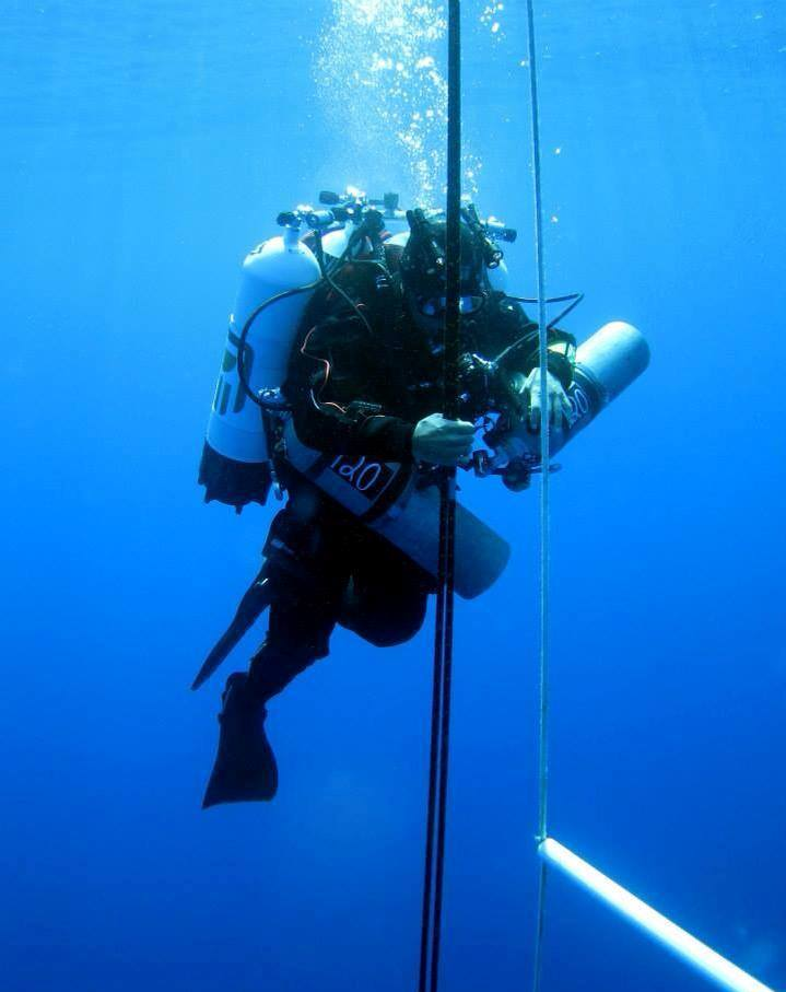 Diver Ahmed Gabr plans on breaking the deepest diving record of 318.5 meters  (Laura Dinthras)