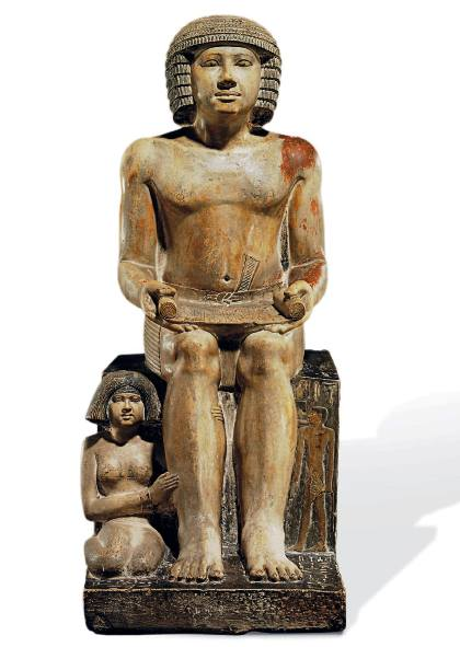 """The Sekhemka statue, carved during Egypt's 5th dynasty, is expected to retrieve between £4m and £6m at auction Thursday (Photo Courtesy of the """"Save Sekhemka Action Group"""")"""