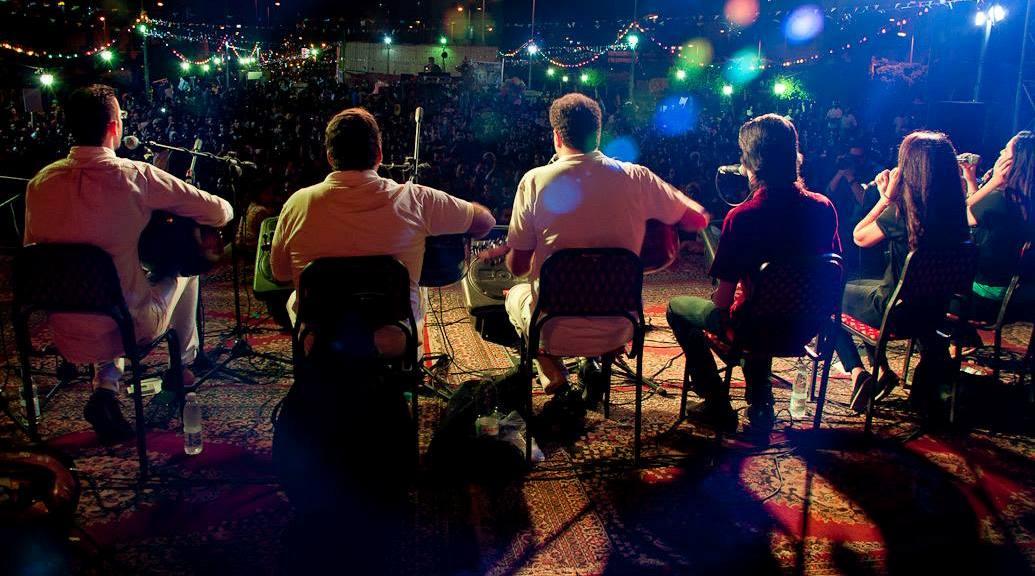 Eskendrella band performing at Al-Fan Midan (Photo Handout from Eskenderella)