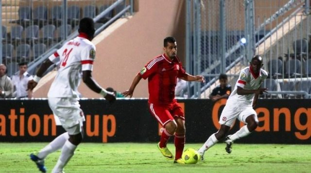 Al-Ahly go top of their CAF Confederation Cup mini league after a 2-0 win over Nkana in Cairo (Photo from Cafonline.com)