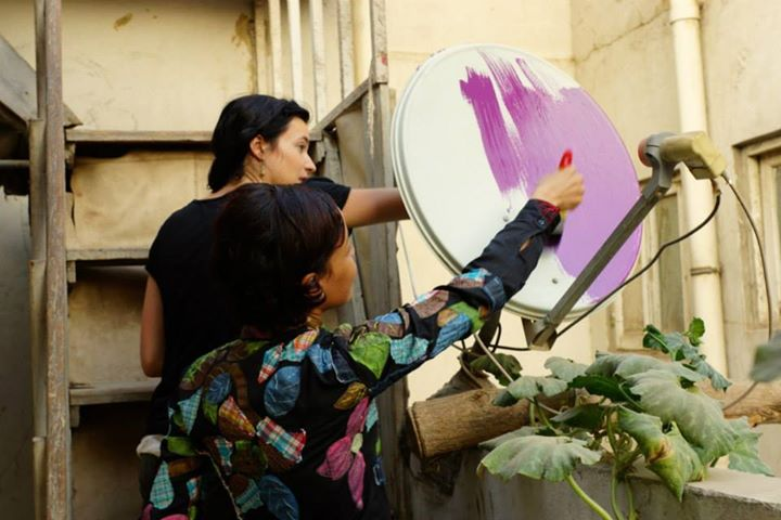 "Stoneking launches the ""Cairo Dish-Painting Initiative"" to beautify the city's skyline and use it as a medium to empower people (Photo Handout from Cairo Dish-Painting Initiative Facebook page)"