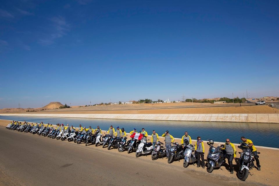 "60 scooter and motorcycle riders from 11 countries around the world participate in the fourth season of the international cross-country rally the ""Cross Egypt Challenge"" (Photo Courtesy of Cross Egypt Challenge)"