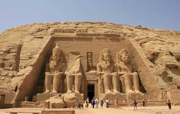 Tourism authorities celebrated the 46th anniversary of the successful rescue of the Abu Simbel temple Monday. After the construction of the High Dam, it was at risk of being submerged . (AFP File Photo)