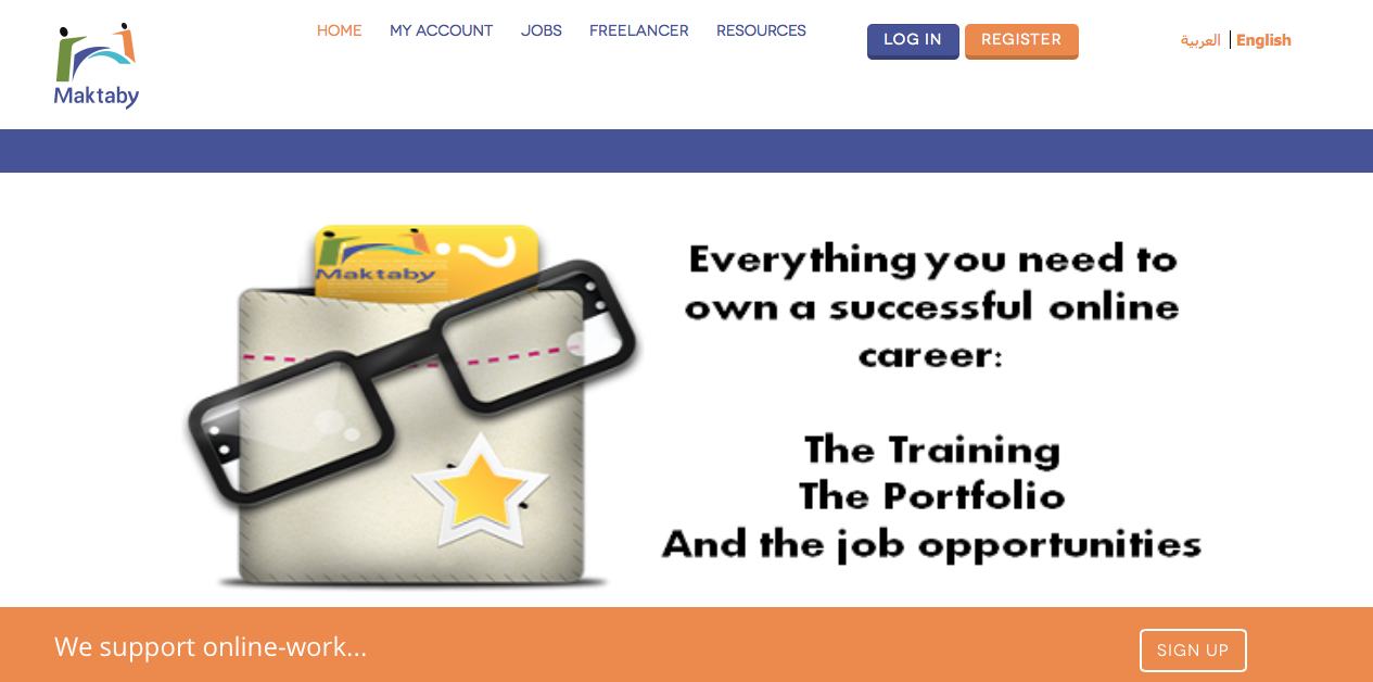 Maktaby offers training and support to women in the beginning of their online careers (Photo Screenshot of Maktaby's website)