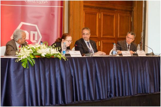 Photo Left to Right: Shantayanan Devarajan, Heba Handoussa, Mahmoud El Gamal, Carlos Velez (Photo courtesy of ERF)