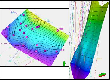 Example of a 3D modelling helps identifying fault surface of a Rus Budran reservoir   (Photo courtesy of SUCO)