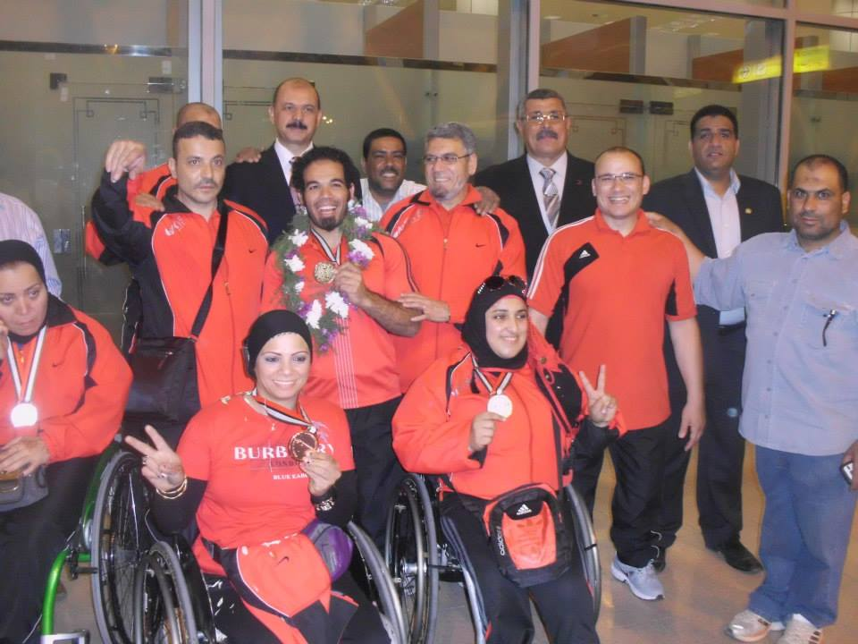 The Egyptian Paralympic weightlifting team won four gold, six silver, and two bronze medals and broke four world records at the Dubai 2014 IPC Power lifting World Championships (Photo from Egyptian Paralympic Committee)