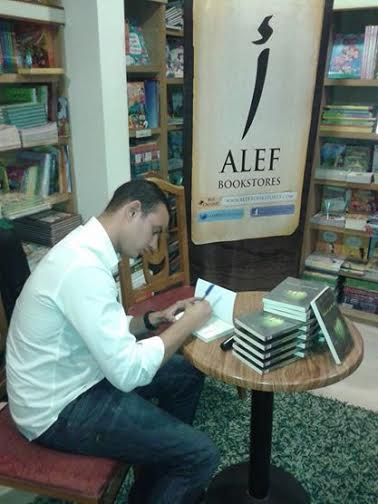 Magdy while signing the release of his latest books