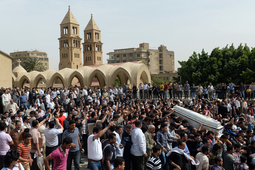 EGYPT-UNREST-RELIGION-COPTS-FUNERAL